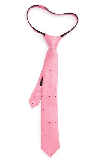 Boys Nordstrom Dot Silk Zip Tie