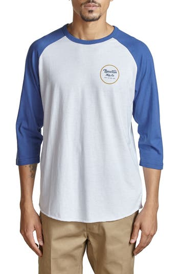 Brixton Wheeler Graphic Baseball T-Shirt, White