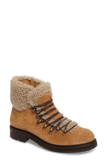 Alberto Fermani Evia Genuine Shearling Lined Boot, Beige