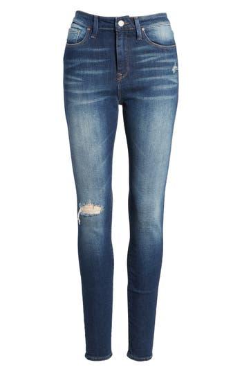 Mavi Jeans Lucy Ripped High Waist Stretch Skinny Jeans, Blue