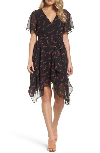 Sam Edelman Handkerchief Hem Dress, Black