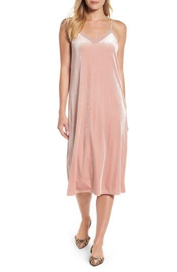 Halogen Velvet Slipdress, Pink