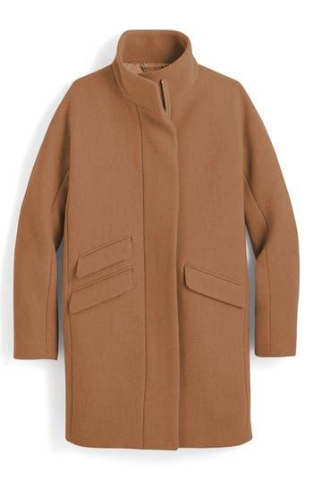 Women's J.crew Stadium Cloth Cocoon Coat, Size 00 - Brown