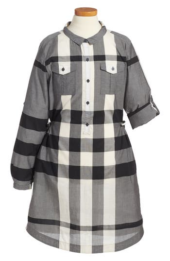 Girls Burberry Dariell Check Print Dress
