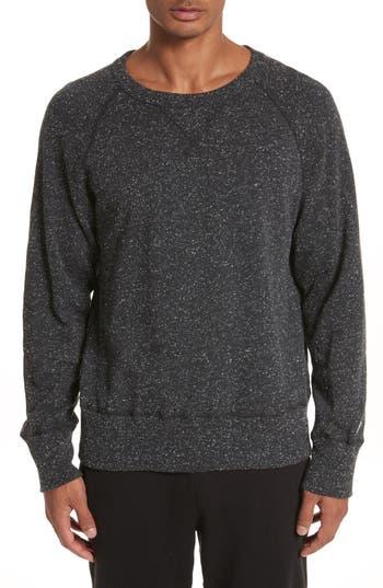 Todd Snyder + Champion Heathered Crewneck Sweatshirt, Black