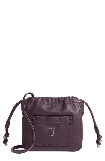 marc jacobs female marc jacobs tied up leather crossbody bag purple