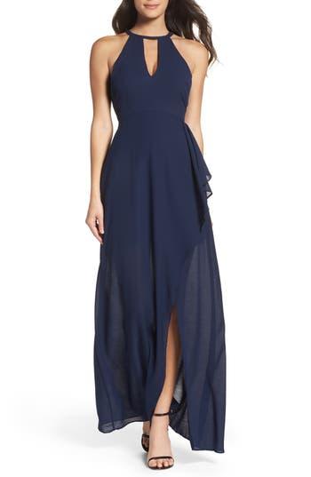 Lulus I Spy Maxi Dress, Blue