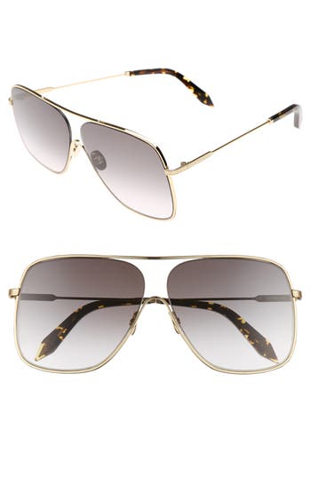 Victoria Beckham Loop 61Mm Navigator Sunglasses - Galaxy