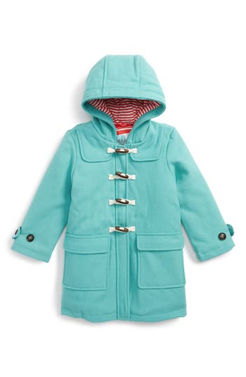 Girl's Mini Boden Hooded Duffle Coat, Size 4-5Y - Blue