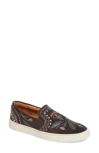 Frye Ivy Embroidered Slip-On Sneaker, Grey