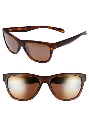 Maui Jim Secrets 5m Polarizedplus2 Sunglasses - Matte Tortoise/ Bronze