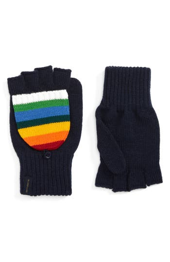 Pendleton National Park Pop Top Mittens, Size One Size - Blue