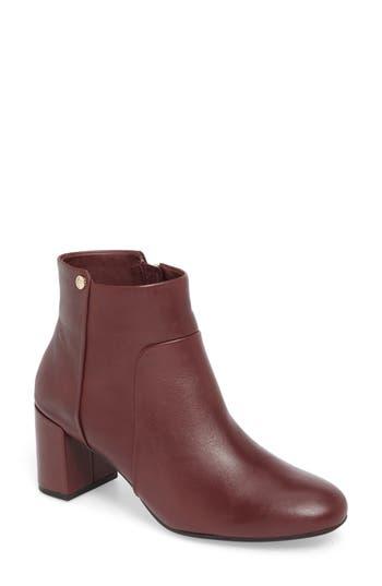 Taryn Rose Camille Block Heel Bootie, Burgundy