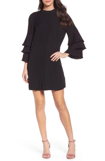 Chelsea28 Ruffle Sleeve Shift Dress, Black