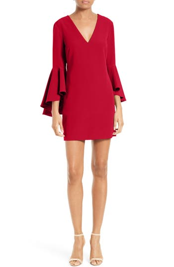 Women's Milly Nicole Bell Sleeve Dress, Size 6 - Red