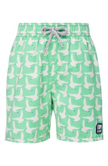 Boys Tom  Teddy Seagull Swim Trunks Size 78Y  Green