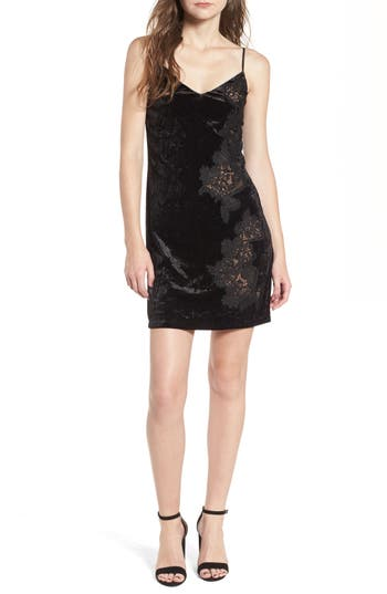 Bailey 44 Velvet & Lace Slipdress, Black