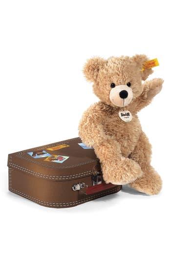 Infant Steiff Fynn Teddy Bear  Suitcase Set