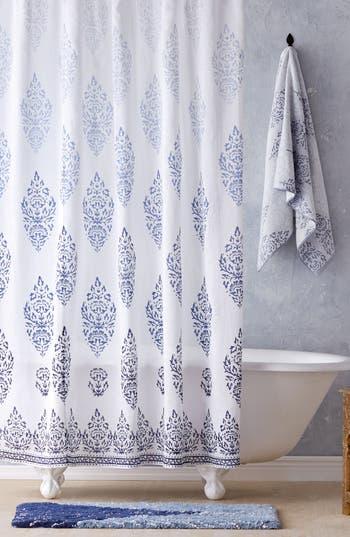 John Robshaw Jalati Shower Curtain, Size One Size - Blue