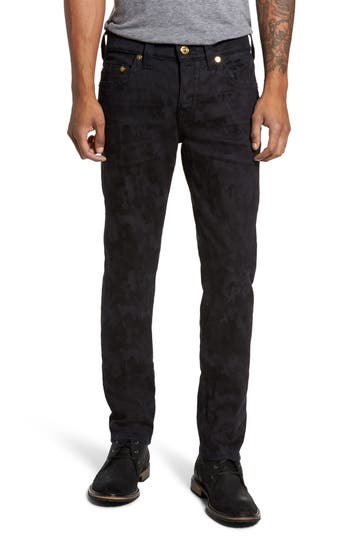 Big & Tall True Religion Brand Jeans Rocco Skinny Fit Jeans, Blue