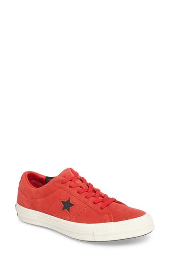 Converse Chuck Taylor All Star One Star Low-Top Sneaker, Red