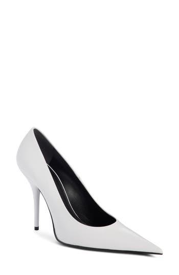 Balenciaga Pointy Toe Pump, White