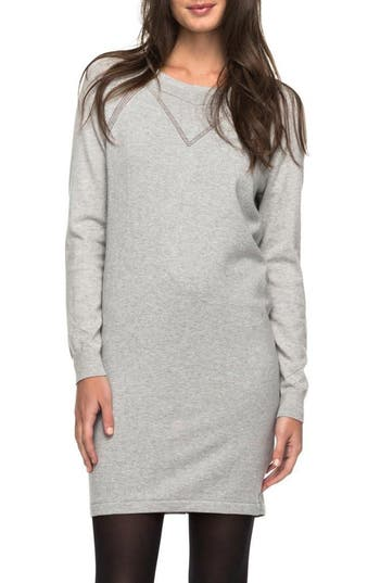 Roxy Winter Story Sweater Dress, Grey