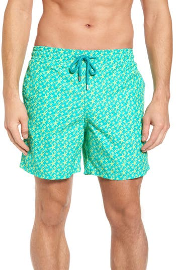 Vilebrequin Micro Starlets Swim Trunks, Green