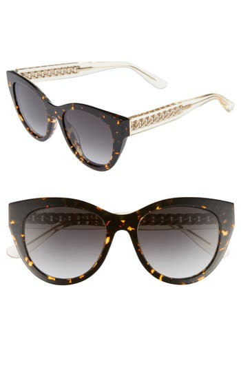 Jimmy Choo Chana 52Mm Gradient Sunglasses - Brown Havana Yellow