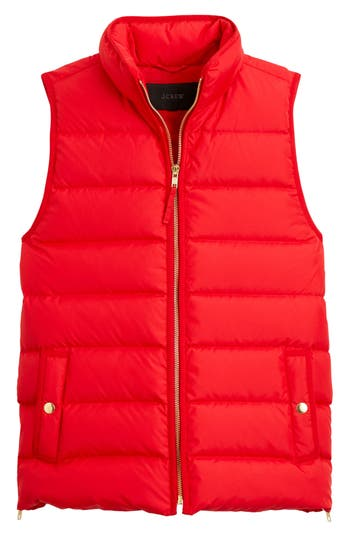 J.crew Anthem Down & Feather Fill Puffer Vest, Red