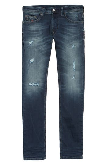 Diesel Thavar Skinny Fit Jeans - Blue