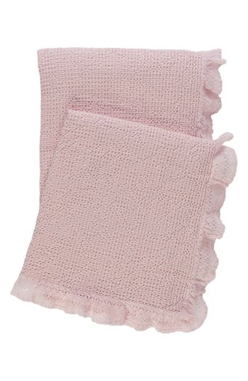 Pine Cone Hill Lace Ruffle Throw, Size One Size - Pink