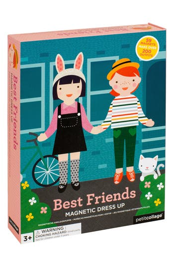 Toddler Girl's Petit Collage 63-Piece Best Friends Magnetic Dress-Up Dolls Set