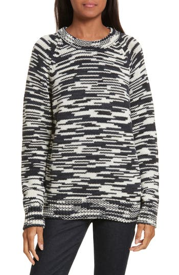 Tory Burch Olivia Merino Wool Sweater, Blue