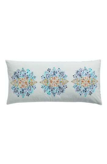 Nordstrom At Home Embroidered Accent Pillow, Size One Size - Blue