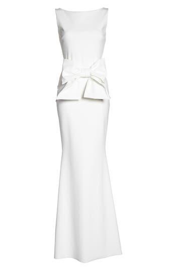 Chiara Boni La Petite Robe Bow Detail Sleeveless Gown, White