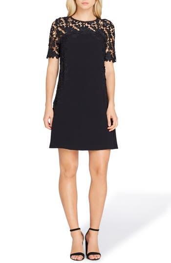 Petite Tahari Lace Sheath Dress, Black