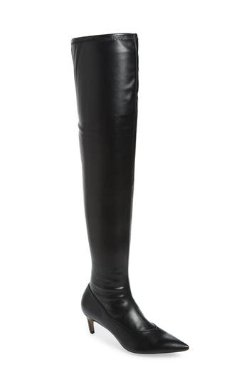 Topshop Crawler Over The Knee Boot - Black