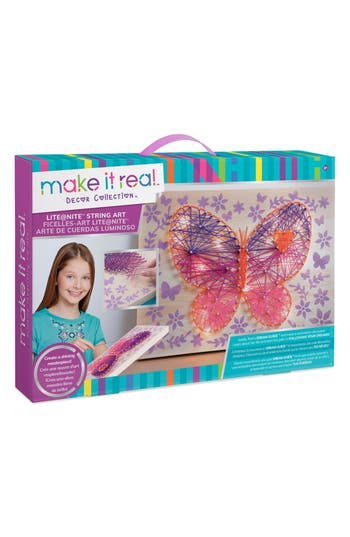 Girls Make It Real Lightnite(TM) String Art Set