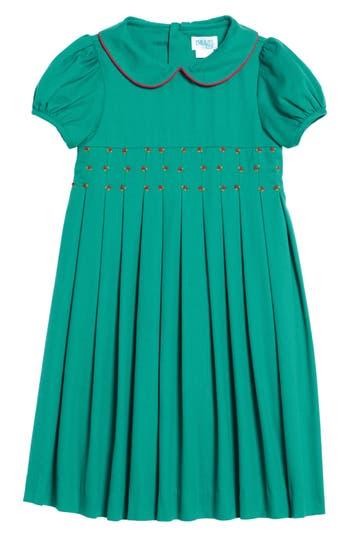 Girl's Luli & Me Pinwale Corduroy Dress, Size 6 - Green