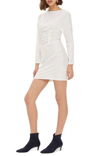 Topshop Ruched Waist Mindress, US (fits like 0) - Ivory