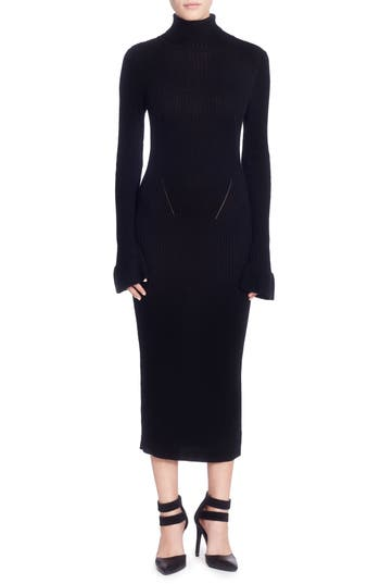 Catherine Catherine Malandrino Camron Turtleneck Midi Dress, Black