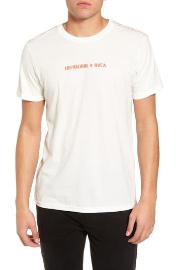 Rvca Toy Machine Graphic T-Shirt, White