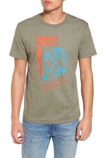 Obey Ghost In The Machine Graphic T-Shirt, Green