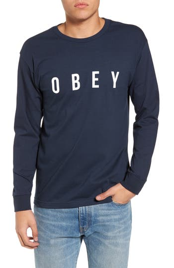 Obey Logo Graphic T-Shirt, Blue