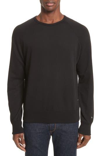 Rag & Bone Standard Issue Crewneck Sweatshirt, Black