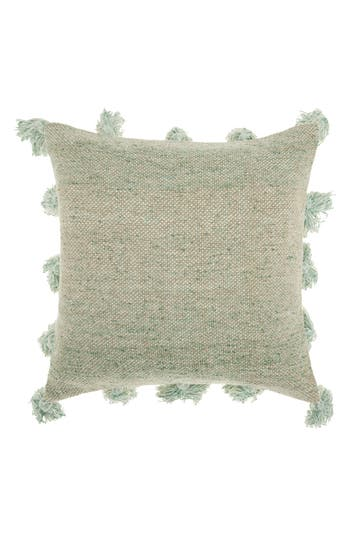 Mina Victory Canvas Accent Pillow, Size One Size - Green
