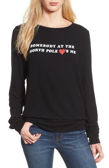 Women's Wildfox North Pole Sweatshirt, Size X-Small - Black