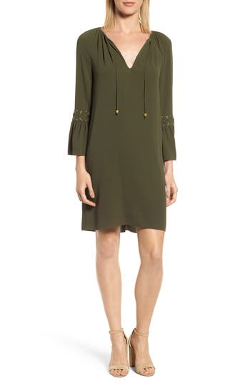 Michael Michael Kors Lace-Up Sleeve Dress, Green