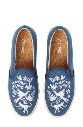 Soludos Otomi Slip-On Sneaker, Blue
